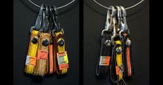 Made in the USA. Made with leather and decommissioned firefighter bunker gear scraps. Designed to have rough, unfinished threading and frayed edges, each keyloop is unique and may not look like the items pictured and the distressing is to be expected. | Black Helmet - Gear Scraps Key Loop