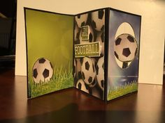 Greeting card made from the Soccer collection at Reminisce.
