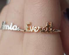 Dainty Name Ring Children Name Ring Christmas Gift by JewelryRB