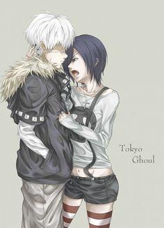 Tokyo Ghoul Kaneki y Touka