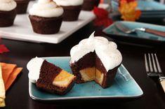 Cupcakes de chocolate con cheesecake de calabaza adentro Receta - Comida Kraft