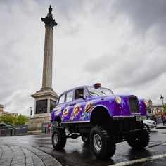 Cadbury Dairy Milk gets the choc on the road with the UK's first ever Monster Truck Taxi. The impressive vehicle was specially created to celebrate the launch of the new Cadbury Dairy Milk Big Taste.Dwarfing all cabs on the roads, the Big Taste Monster Truck Taxi is 9ft tall and weighs a whopping 1.5 tonnes. Adorned with the iconic Cadbury purple, the car will open its doors to chocolate fans all around the country.