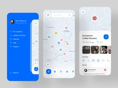 AroundMe - Location Base Service Application designed by Pouriya Rezaie for RonDesignLab. Connect with them on Dribbble; Web Design, App Ui Design, Interface Design, Graphic Design, Design Thinking, Parking App, Location Based Service, Ui Design Mobile, App Design Inspiration