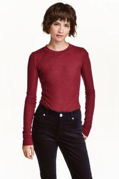 Camisola canelada com lyocell | H&M