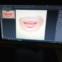 Practicing painting lips in Photoshop from scratch 🎨💻 Учусь рисовать губы в фотошопе с нуля 🙌🏼 #DigitalIllustration #DigitalDrawing #VSCOArtLife #trvlblog