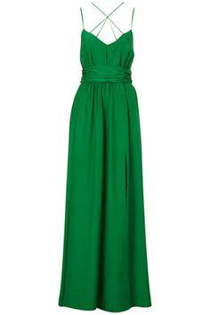 LIMITED EDITION Emerald Silk Maxi Dress - $350.00, Topshop.com