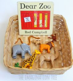 Dear Zoo storytelling basket for toddlers…. Dear Zoo storytelling basket for toddlers. Dear Zoo storytelling basket for toddlers…. Preschool Literacy, Early Literacy, Literacy Activities, Infant Activities, In Kindergarten, Activities For Kids, Nursery Activities, Preschool Music, Preschool Books