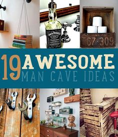 DIYReady.com wants your man cave to be as amazing as he is. Check out 19 awesome man cave ideas at diyready.com/man-cave-ideas-19-diy-decor-and-furniture-projects/