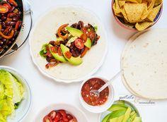 Burritos aux légumes et haricots rouges