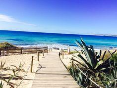 Formentera. Playa Migjorn. Pinned by ibizadiscover.com