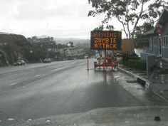 Cal Trans seems to believe in Zombies.