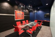 Corporate Conference room with awesome reference to heritage and industry of company - Love how it turned out :)