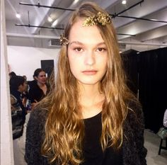 Rodarte Gives the Floral Crown a Major Makeover for Spring via @WhoWhatWear