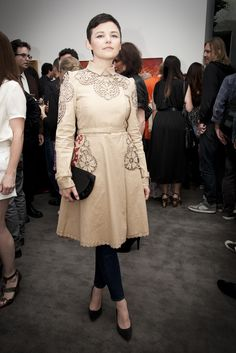 Ginnifer Goodwin at the Perry Rubenstein Gallery in Los Angeles. (Photo by Erika Shisler)