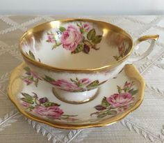 Royal Standard Gold Gilt Floral Tea Cup / by ClassiqueVintique