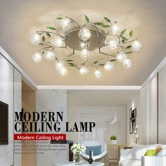 Cheap Ceiling Lights, Buy Directly from China Suppliers:Modern LED Ceiling Lights Flower Leaf Lamp Light Fixtures For Bedroom Kitchen Foyer Living Room lustre luminaire home lighting Enjoy ✓Free Shipping Worldwide! ✓Limited Time Sale✓Easy Return. Led Living Room Lights, Modern Led Ceiling Lights, Led Ceiling Lamp, Bedroom Ceiling, Bedroom Lamps, Chandeliers, Led Chandelier, Art Design, Home Lighting
