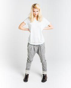 European Girls, Street Look, Harem Pants, Sporty, Sweatpants, V Neck, Lady, Tees, Cloud