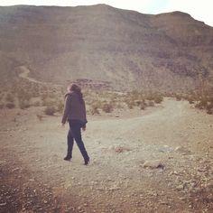 Walking the mountain in heels... Always fabulous!
