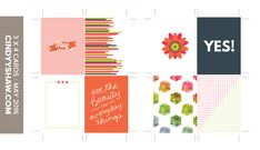 """Free May 3x4"""" Project Life Journal Cards from Cindy Y. Shaw {checkout required}"""