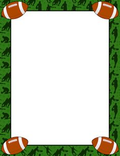 pin by muse printables on page borders and border clip art rh pinterest com Football Outline Clip Art Football Field Clip Art
