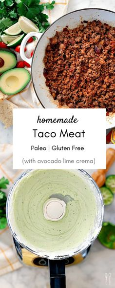 From Bri McCoy. Comes together in less than 30 minutes and is paleo! Entree Recipes, Meat Recipes, Paleo Recipes, Mexican Food Recipes, Whole Food Recipes, Food Processor Recipes, Dinner Recipes, Paleo Food, Yummy Recipes
