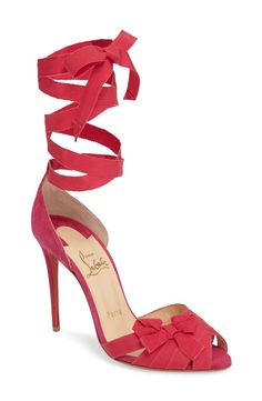 Christian Louboutin Christervia Ribbon Sandal (Women) available at #Nordstrom