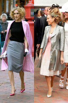 Tiara En rosa y gris, las dos coinciden con un accesorio parecido.