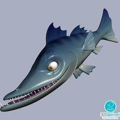 Cartoon Barracuda Fish 3D Model fbx obj max 3ds stl | 3DSquirrel