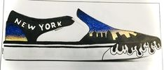 Este foi um trabalho de E.V que correu melhor do ue eu pensava, por isso a cho que vou tentar criar estes VANS New York...o que acham???🗽