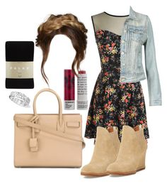 """""""Lydia Martin Inspired Outfit"""" by lili-c ❤ liked on Polyvore featuring Bettye Muller, Yves Saint Laurent, Korres and Falke"""
