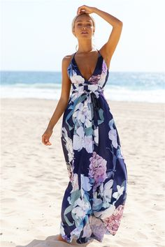 HelloMolly | Lovers And Friends Maxi Dress Navy - New In