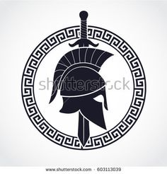 Find Silhouette Spartan Theme Logo Helmet Sword stock images in HD and millions of other royalty-free stock photos, illustrations and vectors in the Shutterstock collection. Spartan Sword, Spartan Shield, Spartan Logo, Spartan Warrior, Shield Tattoo, Sword Tattoo, Silhouette Logo, Spartan Helmet Tattoo, Sparta Helmet