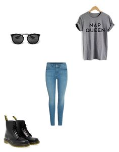 """""""??? sure"""" by morgan-gaetano ❤ liked on Polyvore featuring Dr. Martens and Prada"""