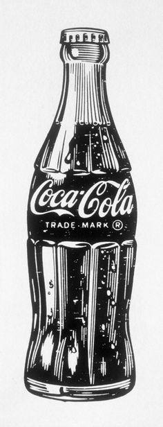 Vintage coca cola bottle drawing - Google Search: