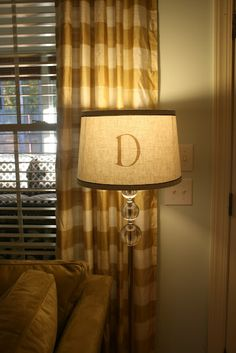 DIY monogram lamp shades