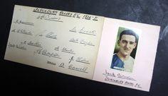 Blackburn Rovers FC 1935 autograph card