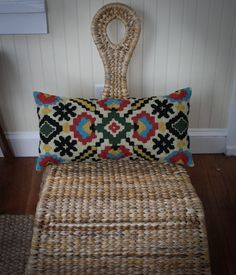 Spruce up any chair with this awesome hand embroidered cushion cover from Kashmir. Embroidered with pure wool by artisans in Srinagar India. Measures 12 x Embroidered Cushions, Cushion Covers, Holiday Gifts, Best Gifts, Artisan, Throw Pillows, Pure Products, Wool, Srinagar