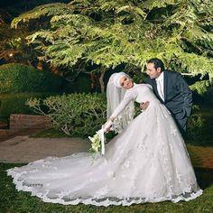 2016 лонг-мусульманам рукавом свадебные платья высокая шея с хиджаб старинные линии белого кружева тюль суд поезд арабский Vestido Novia