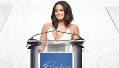 On Wednesday night,Demi Lovatowas honored for her work in mental health advocacy.