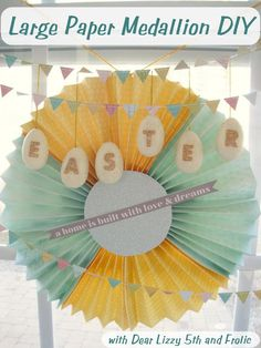 Large Paper Medallion DIY from The Shed blog by Pet Scribbles