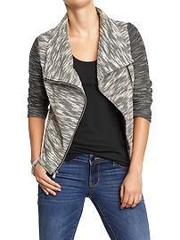 Women's Funnel-Neck Terry-Fleece Jackets
