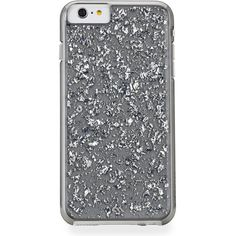 Sterling iPhone 6 Plus Case ($53) ❤ liked on Polyvore featuring accessories, tech accessories, phone covers and silver
