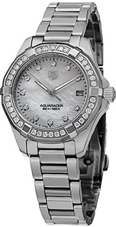 Tag Heuer Aquaracer 300M Women's Diamond Watch - WAY1314.BA0915 - http://www.darrenblogs.com/2017/02/tag-heuer-aquaracer-300m-womens-diamond-watch-way1314-ba0915/