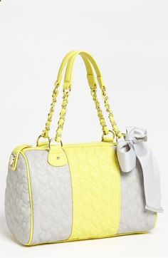 Betsey Johnson Be My One Only Satchel | Nordstrom - cute... Yellow isnt usually my favorite but I like this!