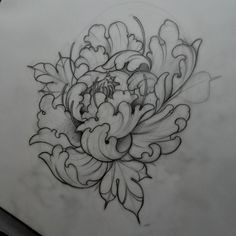 neildransfieldtattoo:  Early morning peony sketching