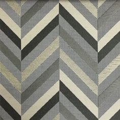 Leyton - Jacquard Fabric Designer Pattern Home Decor Drapery & Pillow Fabric by the Yard - Available in 8 Colors - Zinc - Top Fabric - 8