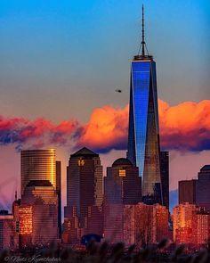 Mets NYC Orange Blue Skyline