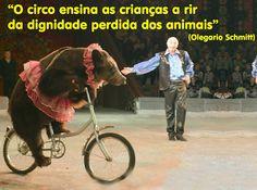 Ação Pelos Direitos dos Animais: Circos com Animais e a Tirania do Riso Animais existem por suas próprias razões  e não foram feitos para o entretenimento. Circo legal é circo sem animal!