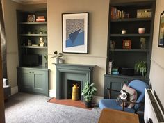 """Glen Horne on Instagram: """"Recently fitted built in alcove cabinets now painted. #carpentry #cabinets #bespoke"""" Alcove Cabinets, Carpentry, Bespoke, Dining Room, Building, Painting, Instagram, Home Decor, Taylormade"""