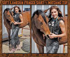 Native Black Lambskin Vest